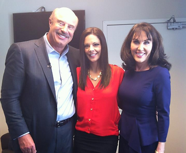 Giselle Price with Dr. Phil and Robin