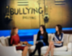 Giselle Price and Katie Uffens with Katie Couric