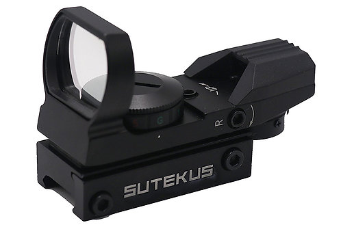 Sutekus 【1年間保証】マルチドット 照準器 ドットサイト 2色 4パターン 20mmレール規格対応[正規品] (照準器本体のみ)