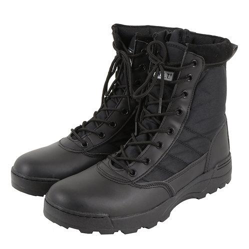 Sutekus YKKファスナー採用 SWAT S.W.A.T ミリタリーブーツ ジャングルブーツ 黒色 ブラック