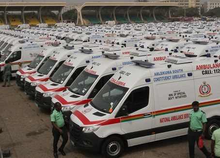President Akufo-Addo commissions 307 ambulances in fulfillment of the '1 constituency 1 ambulance in
