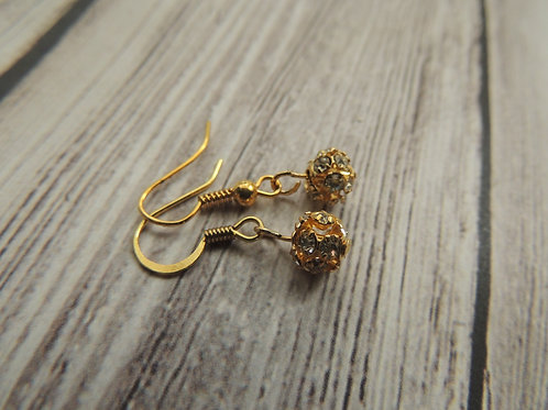 Gold Diamonte Gold Plated Earrings