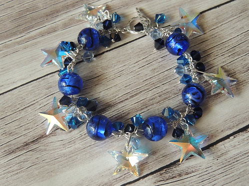 Swarovski Crystal Star sterling silver bracelet
