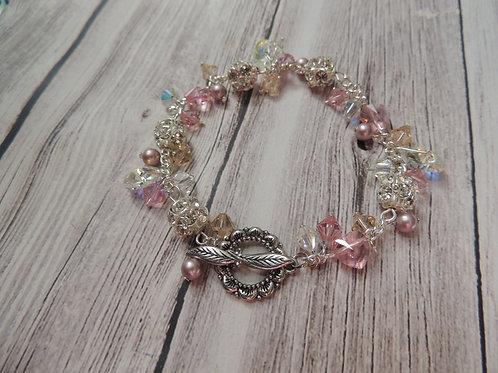 Silver plated Swarovski Crystal Bracelet