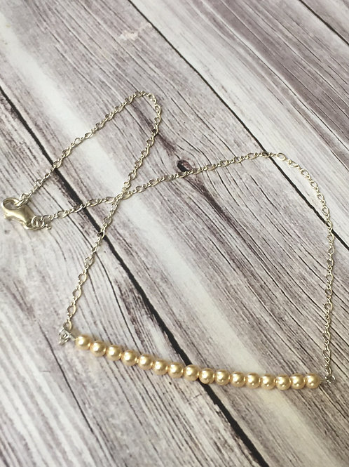 Chain of Pearls Sterling Silver Necklace