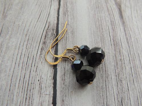 925 stamped Gold Vermeil Crystal Earrings