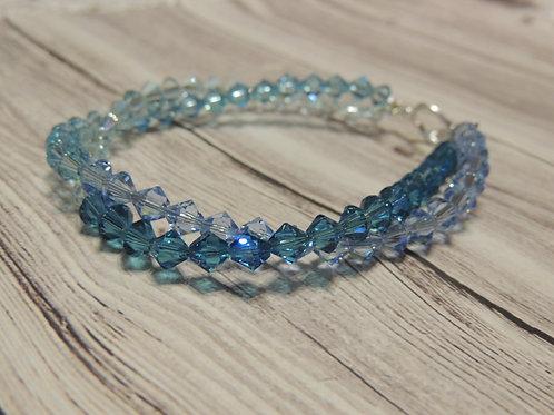 Blue Swarovski Crystal Twist Bracelet
