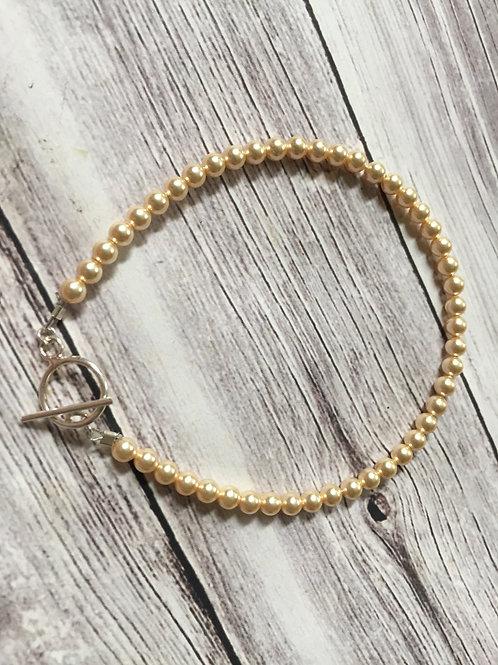 Gold Swarovski Crystal Sterling Silver Bracelet
