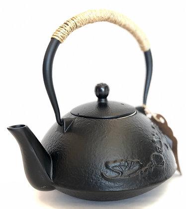 Cast-Iron Tea Kettle w/ Flowers