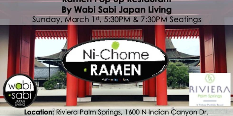 Ramen Pop Up Restaurant Sun, 3/1 5:30PM & 7:30PM