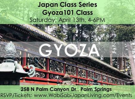 Japan Class Series - Gyoza 101 April 13, 2019