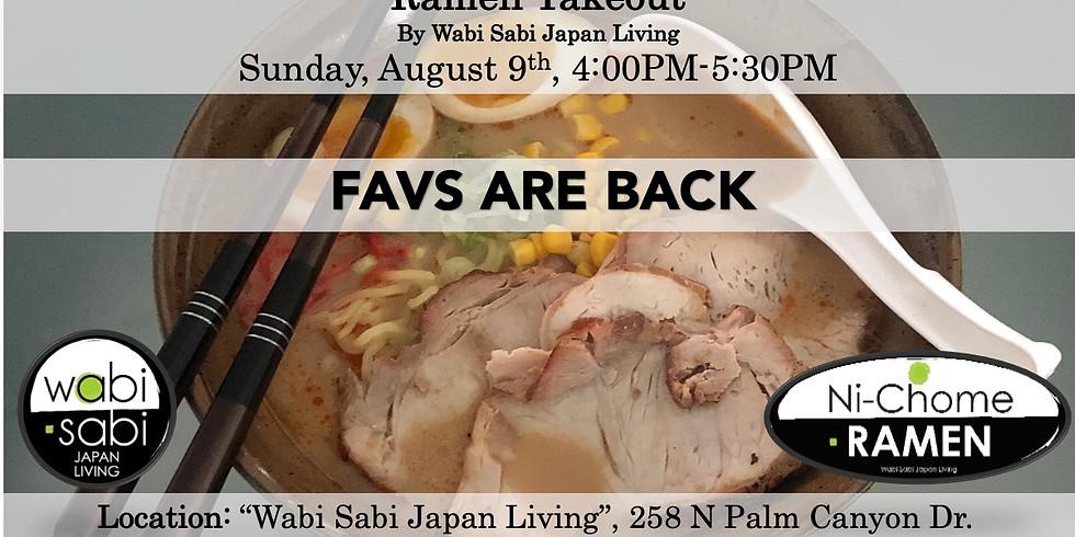 Ramen Takeout – Sun, 8/9, 4:00PM-5:30PM @ Wabi Sabi Japan Living