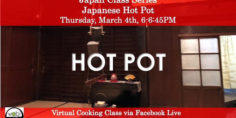 Japan Class Series: Virtual Cooking Class via FB Live