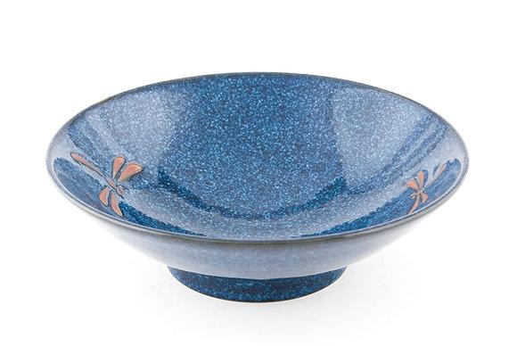 "Dragonfly Blue Bowl (9.75"" x 3"")"