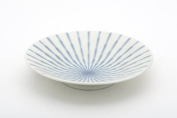 "Radial White Shallow Bowl (9.5"" x 2"")"
