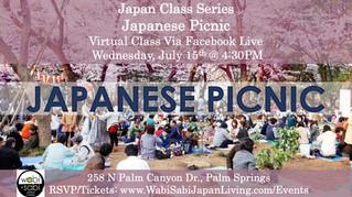 Japan Class Series, Virtual Class Via Facebook Live: Japanese Picnic, Wed 7/15, 4:30PM