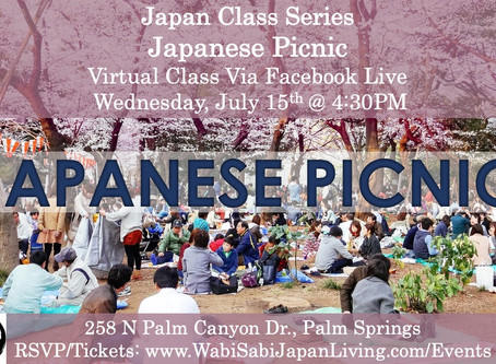 Japan Class Series, Virtual Class Via Facebook Live: Japanese Picnic, Wed 7/15, 4:30PM