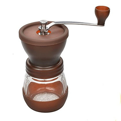 Glass and Plastic Coffee Hand-Grinder