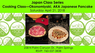 Japan Class Series - Okonomiyaki April 21, 2018