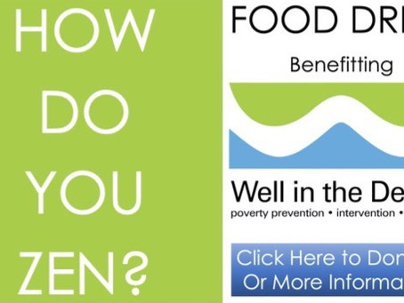 """FOOD DRIVE Benefitting """"Well In The Desert"""", A Virtual Event 
