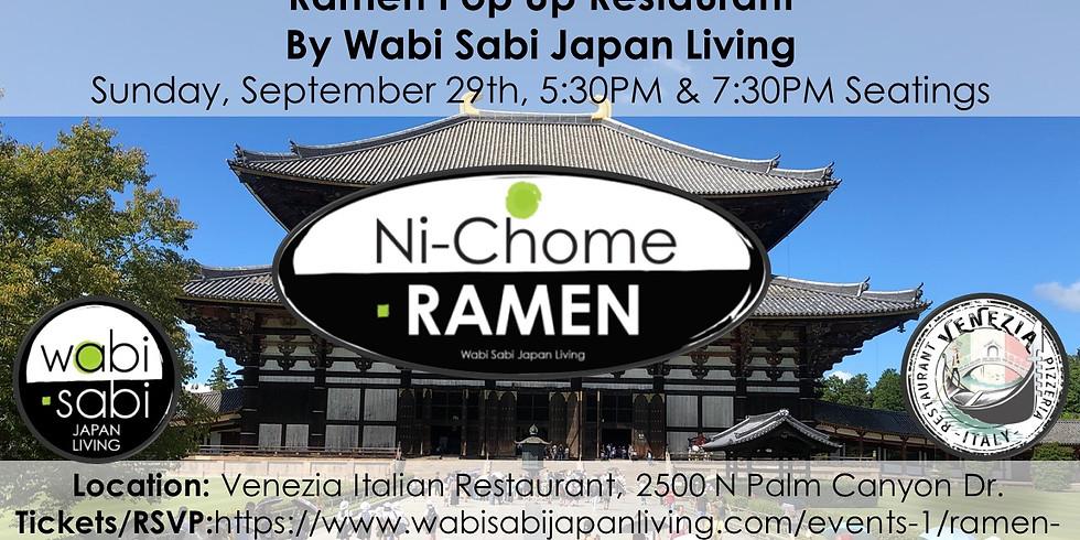 Ramen Pop Up Restaurant - Sun 9/29 1st Seating @ 5:30PM & 2nd Seating @ 7:30PM