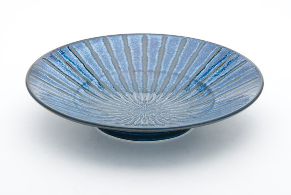"Radial Blue Shallow Bowl (11.5"" x 2.5"")"
