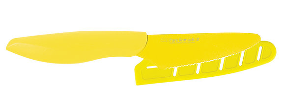 "KAI Pure Komachi 2 Citrus Knife 4"" w/Sheath (Yellow)"