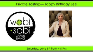 Private Tasting - Happy Birthday Lee June 8, 2018