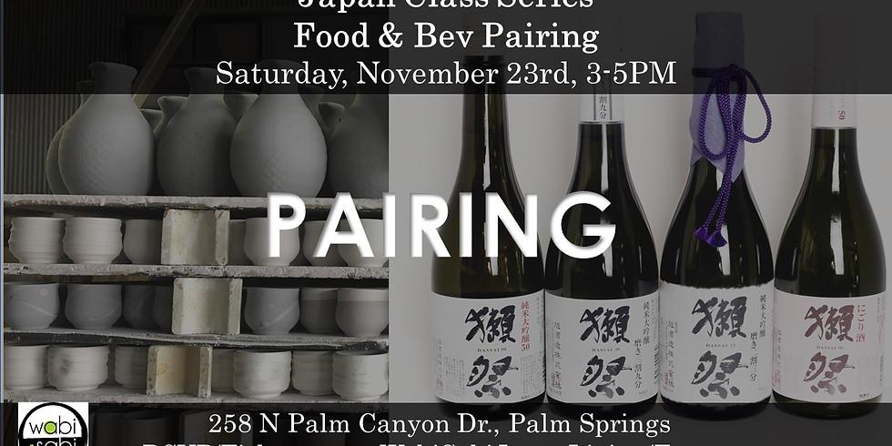 Japan Class - Food & Bev Pairing, Sat 11/23, 3-5PM