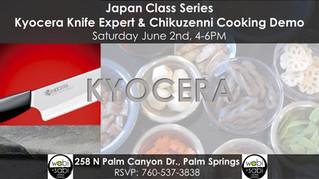 Japan Class Series - Kyocera Knife Expert & Chikuzenni Cooking Demo  June 2, 2018
