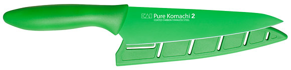 "KAI Pure Komachi 2 Utility Knife  6"" w/Sheath (Emerald)"