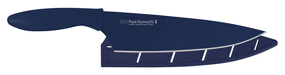 "KAI Pure Komachi 2 Chef's Knife 8"" w/Sheath (Navy)"