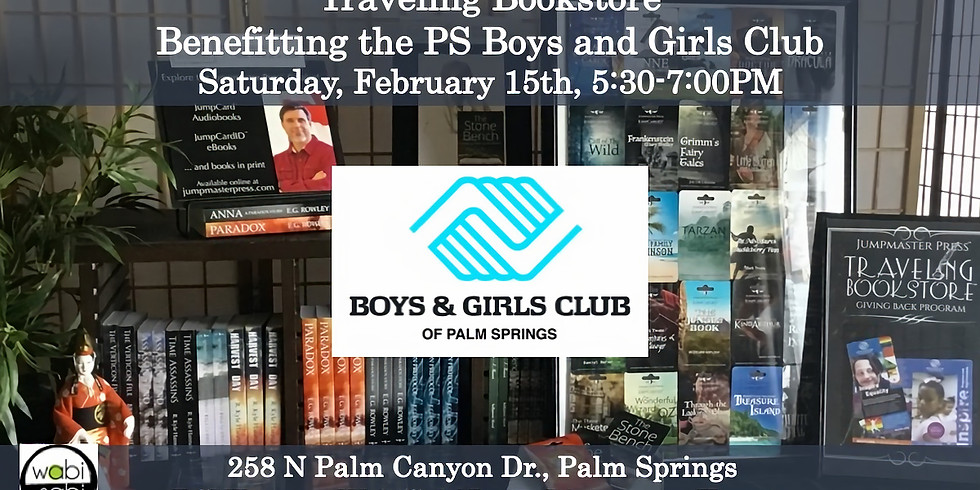 Traveling Bookstore Benefit for the Boys & Girls Club SAT 2/15, 5:30-7:00PM