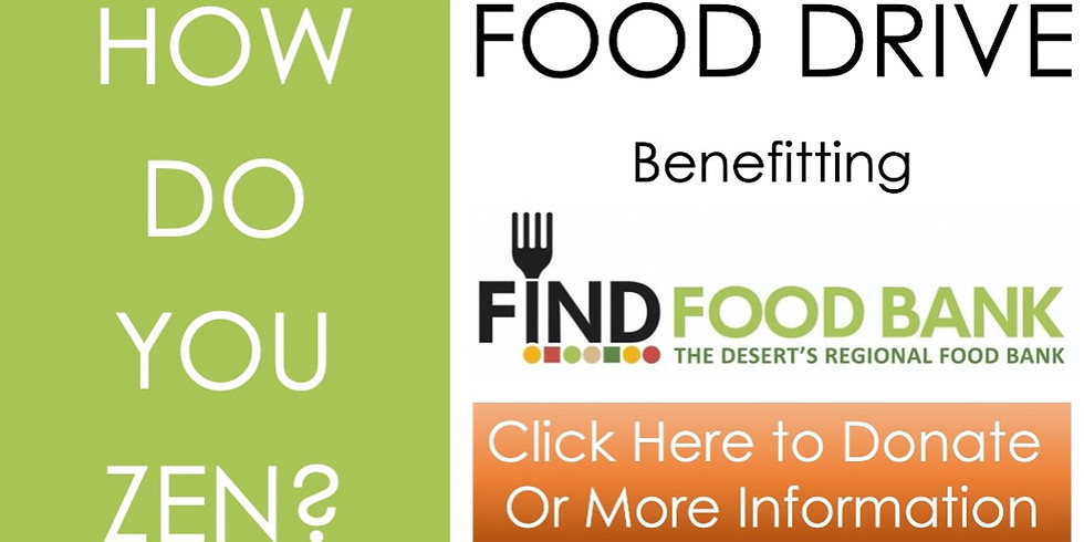 """FOOD DRIVE Benefitting """"FIND Food Bank"""", a Virtual Event"""