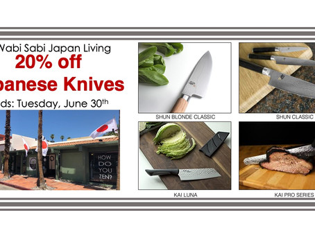 20% Off Shun and Kai Knives