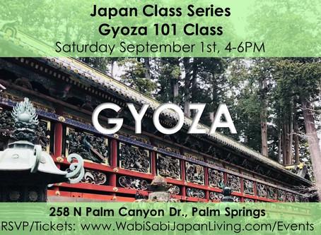 Japan Class Series - Gyoza 101 September 1, 2018