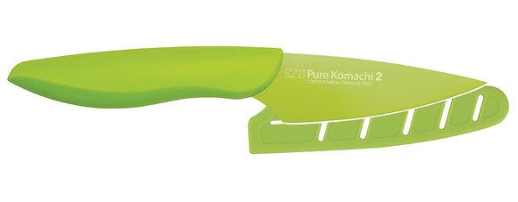 "KAI Pure Komachi 2 Paring Knife 3.5"" w/Sheath (Lt. Green)"