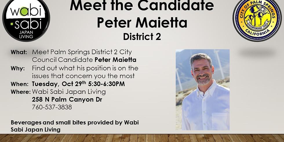 Meet the Candidate - Peter Maietta - Tue 10/29 5:30-6:30PM