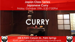 Japan Class Series - Japanese Curry, October 20, 2018