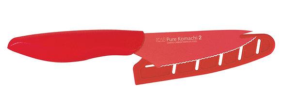 "KAI Pure Komachi 2 Tomato Knife 4"" w/Sheath (Red)"
