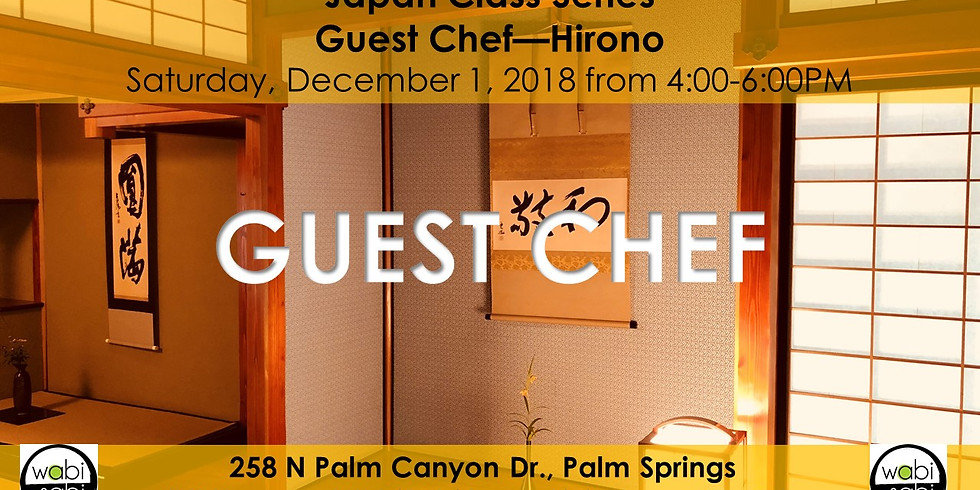 Japan Class Series: Guest Chef: Hirono