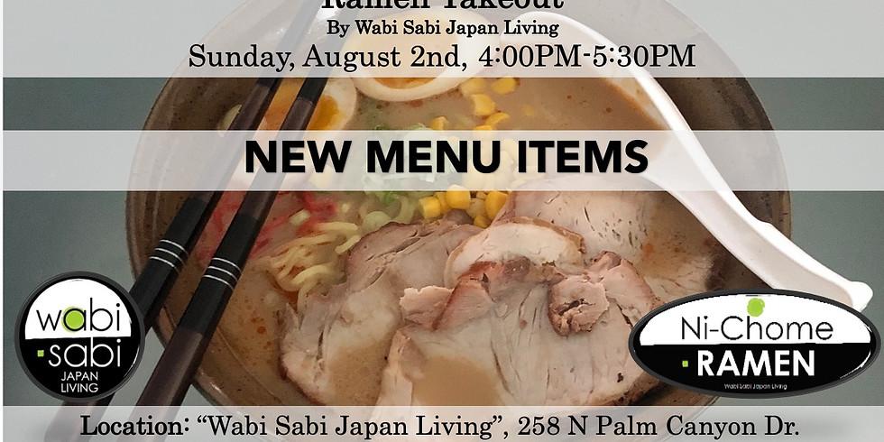 Ramen Takeout – Sun, 8/2, 4:00PM-5:30PM @ Wabi Sabi Japan Living