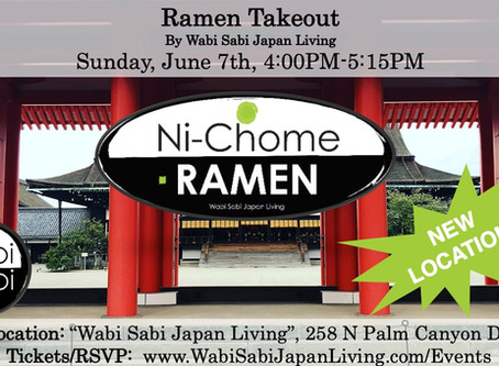 "Ramen Takeout – Sun, 6/7 4-5:15PM @ Wabi Sabi Japan Living (PRE ORDER ONLY) NEW! ""Japanese Curr"