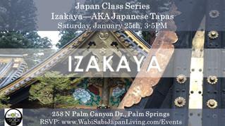 Japan Class Series - Izakaya January 25, 2020