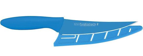 "KAI Pure Komachi 2 Multi Utility Knife 6"" w/Sheath (Teal)"