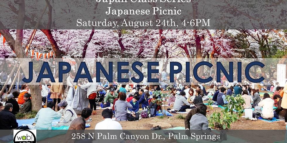 Japan Class Series: Japanese Picnic!  Saturday, 8/24 4-6PM