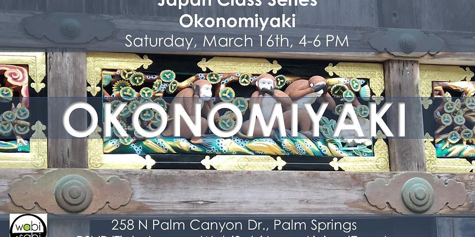 Japan Class Series: Okonomiyaki, Sat 1/5/19, 4-6PM