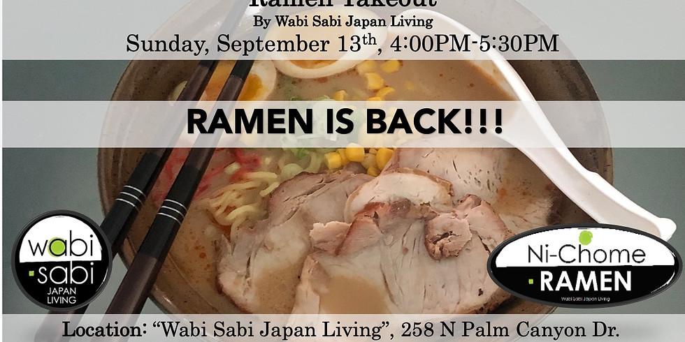 Ramen Takeout – Sun, 9/13, 4:00PM-5:30PM @ Wabi Sabi Japan Living