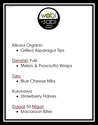 Sake Pairing - March 31, 2018
