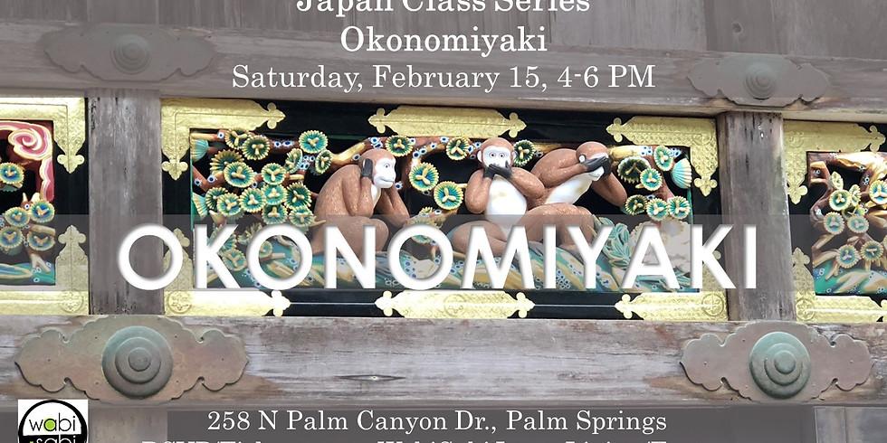 Japan Class Series: Okonomiyaki, SAT 2/15, 4-6PM